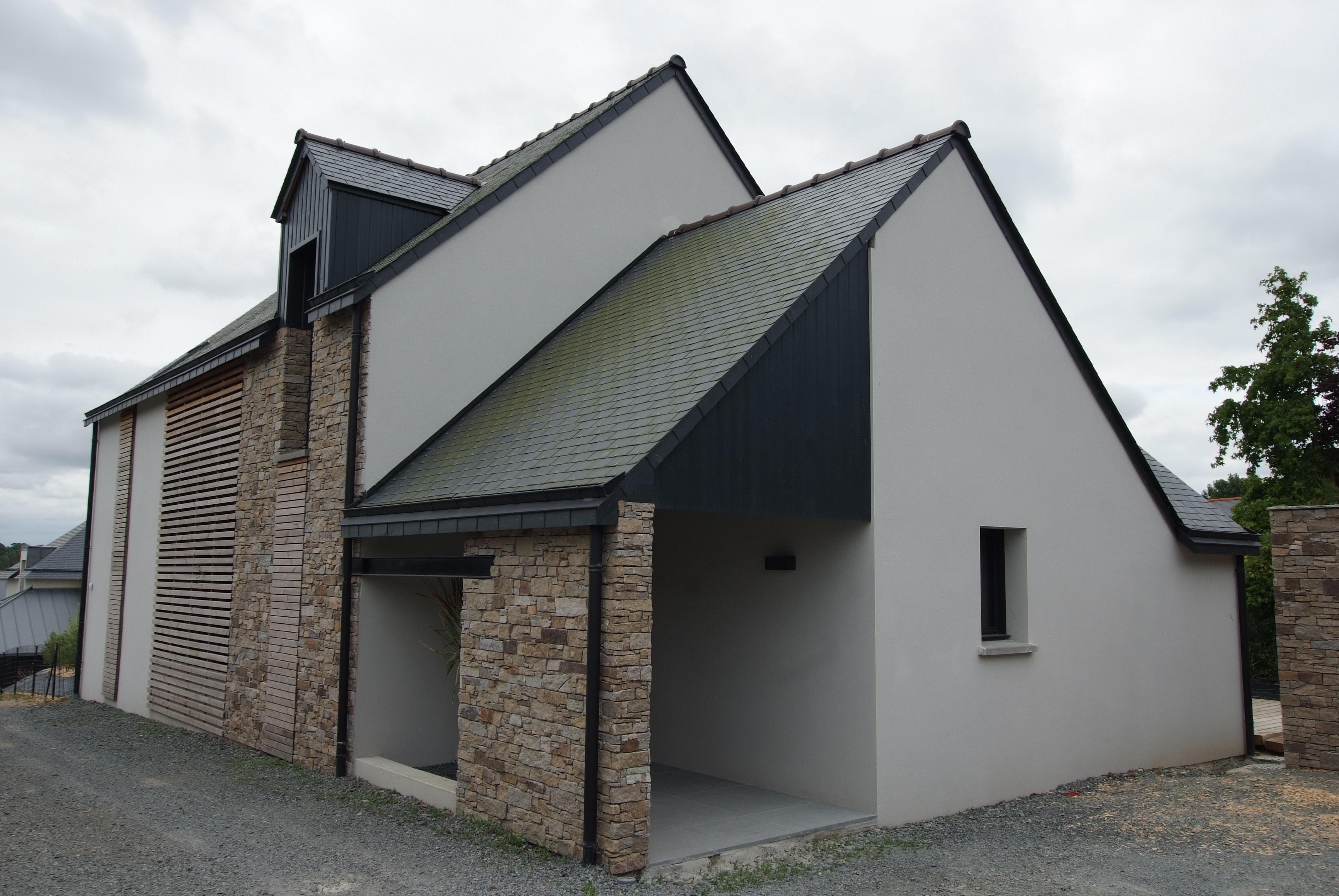 Porche D Entrée Maison Contemporaine maison secteur bâtiment de france alliant modernité et