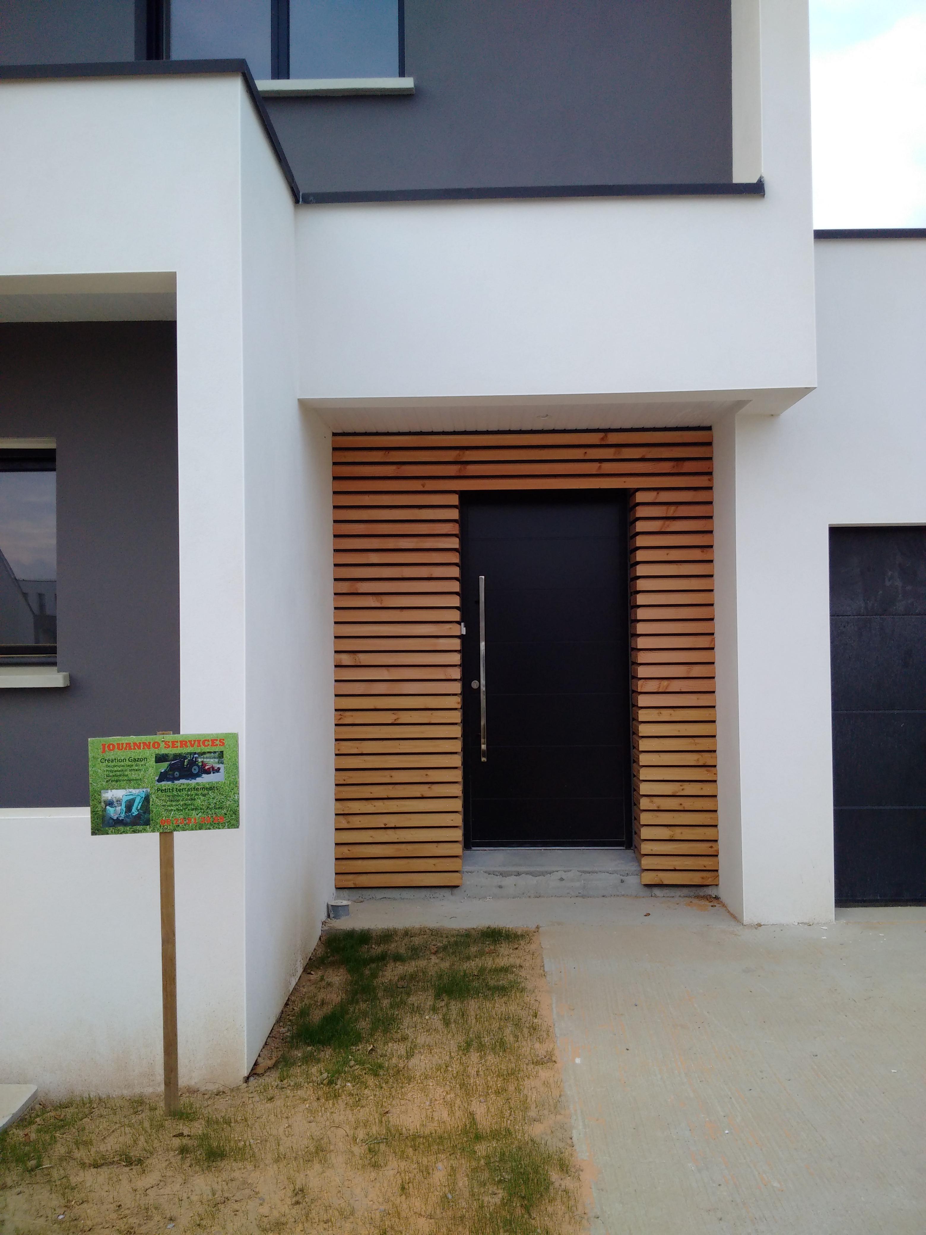 Porche D Entrée Maison Contemporaine construction toit plat - saint-gilles | www.ami-construction.fr