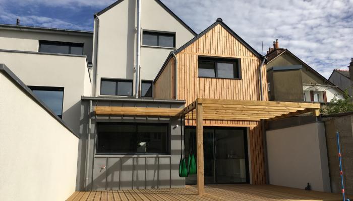 Densification urbaine rennes for Maison moderne urbaine
